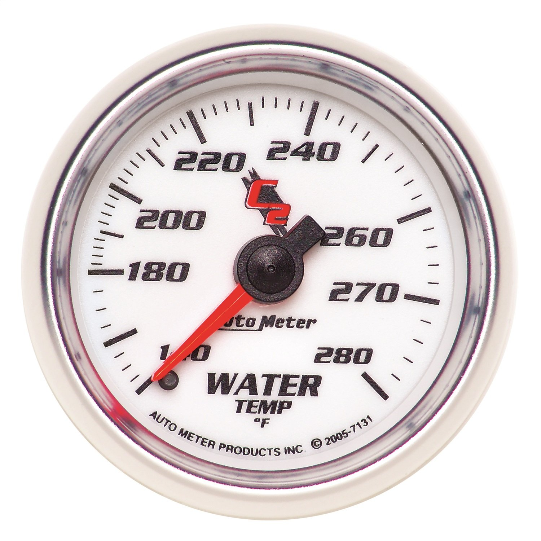 Auto Meter 7131 C2 2-1/16'' 140-280 F Mechanical Water Temperature Gauge by Auto Meter