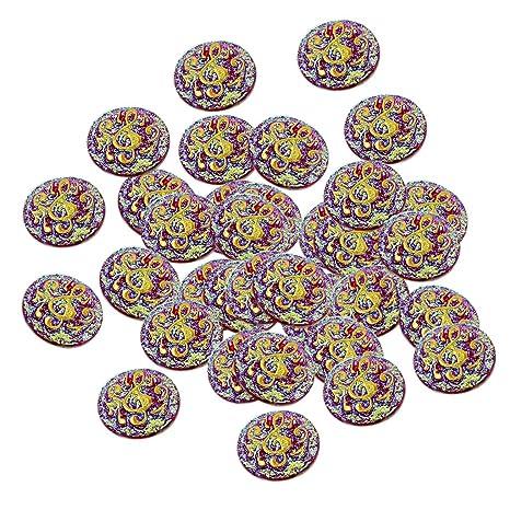 B Baosity 50Piezas Beads Artesanías para Scrapbooking Álbumes y Pegatinas Adornos DIY - Rojo
