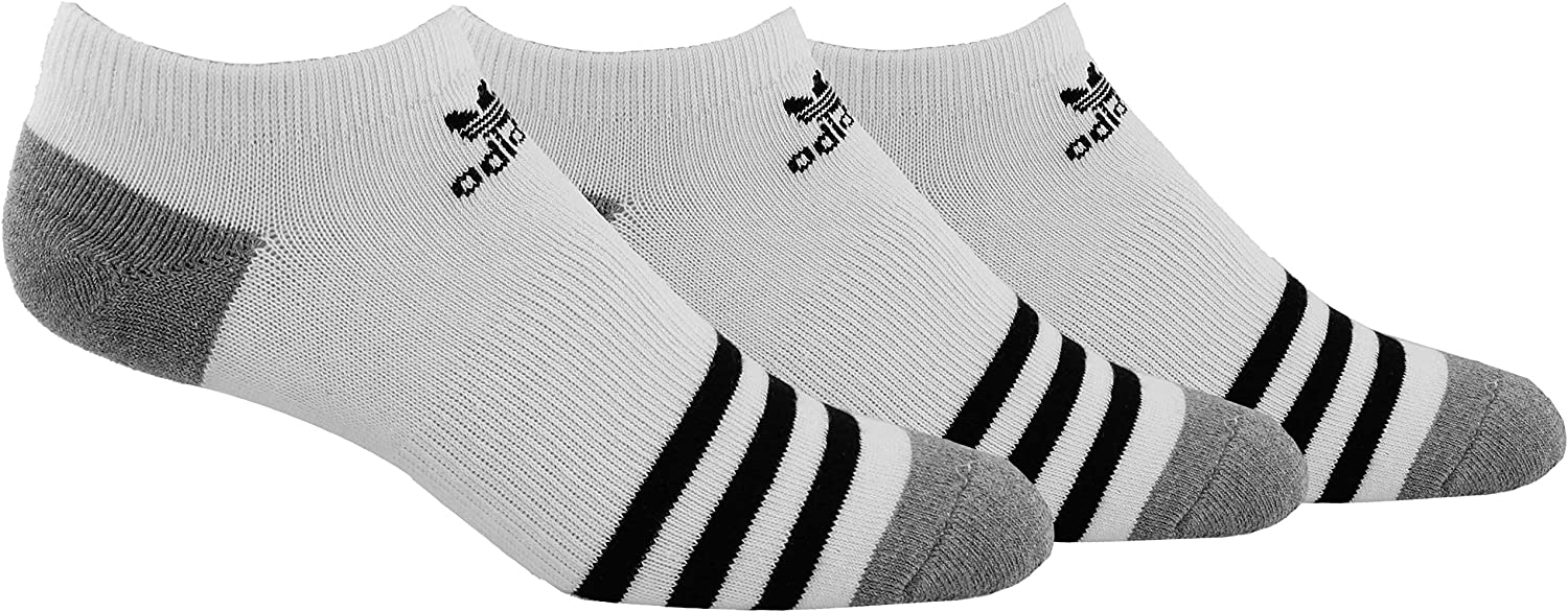 adidas Men's Originals No Show Socks (3 Pack)