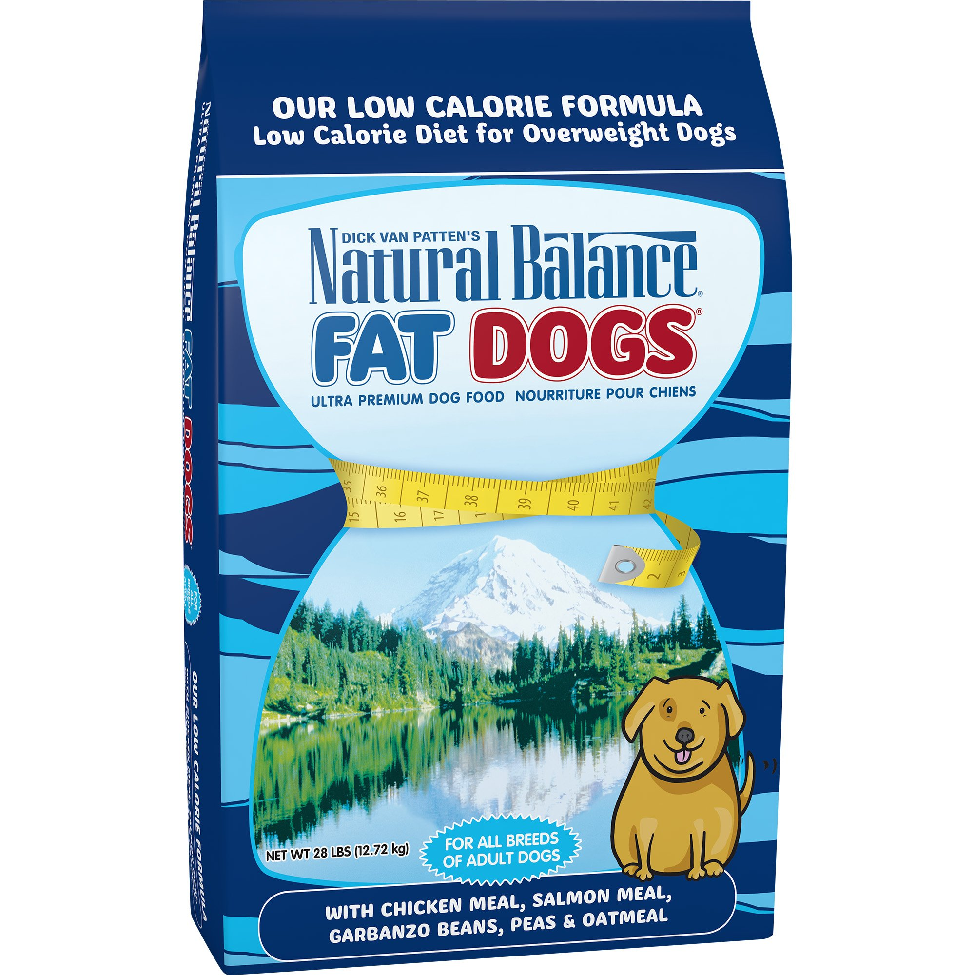 Natural Balance Fat Dogs Chicken Meal, Salmon Meal, Garbanzo Beans, Peas & Oatmeal Dry Dog Food, 28 Pounds by Natural Balance