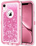 JAKPAK Case for iPhone XR Case Glitter Bling Sparkle for Girls Woman iPhone XR Case Heavy Duty Shockproof Full Body…
