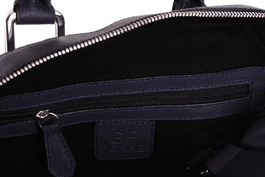 54d0f417e944e Gian Franco Ferre Damen Handtasche Tasche Echtleder Grau-Blau X187   Amazon.de  Bekleidung
