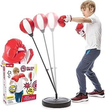 Amazon.com: Whoobli - Saco de boxeo para niños, incluye ...