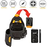 ToughBuilt - Tape Measure / Utility Knife Pouch + Notebook & Pencil - 7 Pockets and Loops, Notebook Pocket, Plastic-lined Knife Pocket (Patented ClipTech Hub & Belts) (TB-CT-25X)
