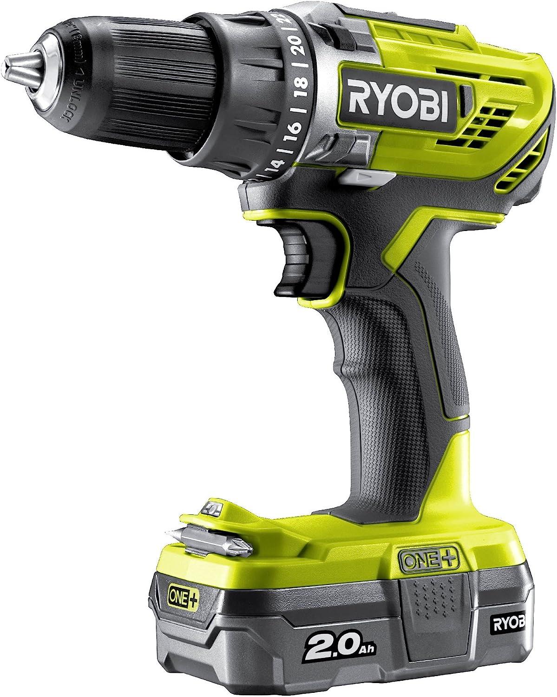 Ryobi R18DD3-120S One Plus - Taladro inalámbrico (18 V), color verde
