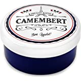 Andrew James Camembert Baker - Rustic Porcelain French Style Ceramic Baking Dish for Cheese Like Brie & Other Soft Cheeses - 15cm Diameter