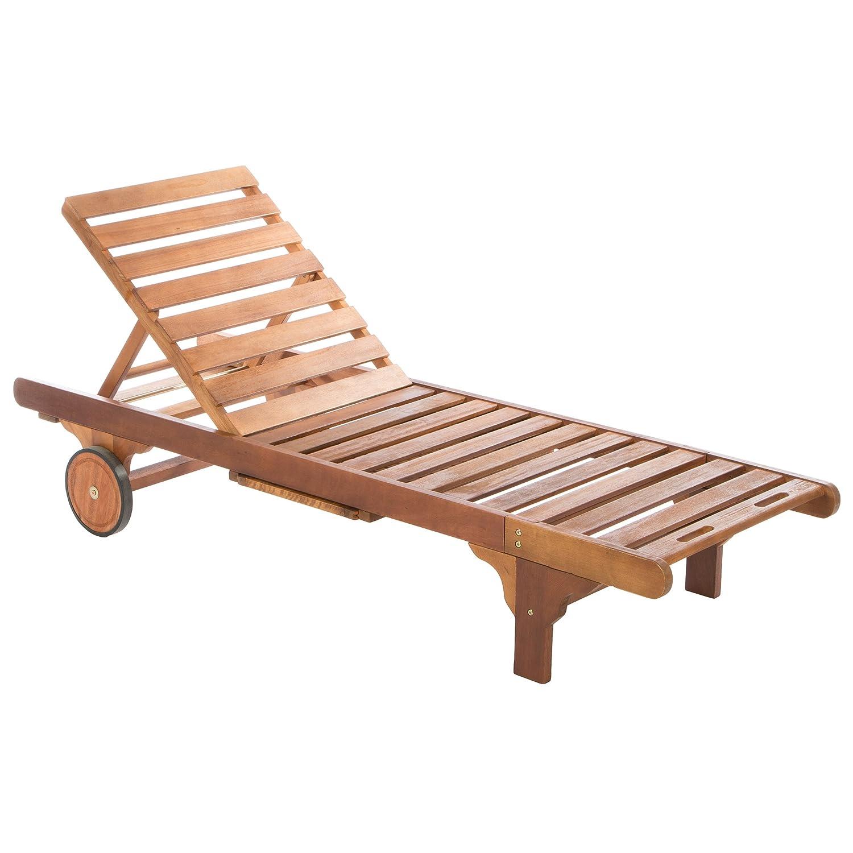 Ultranatura Gartenmöbel - Basics Sonnenliege aus Hartholz, braun ...