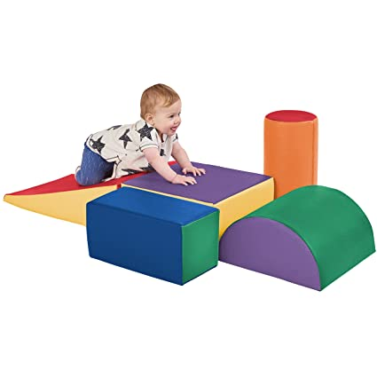 SoftZone Climb and Crawl Activity Play Set, Lightweight Foam Shapes for Climbing, Crawling and Sliding