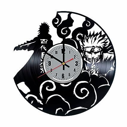 Amazon.com: Naruto Vinyl Wall Clock - Naruto Sasuke Ninja ...