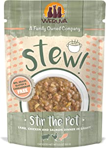 Weruva Classic Cat Stews!, Stir the Pot with Lamb, Chicken & Salmon in Gravy, 3oz Pouch (Pack of 12)