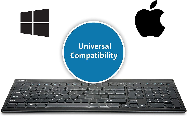,Black Kensington Slim Type Wired Keyboard K72357USA