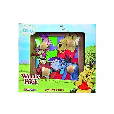 Smoby Eichhorn - 100003326 - Puzzle à Buttons - Winnie the Pooh en Bois - 5 pièces