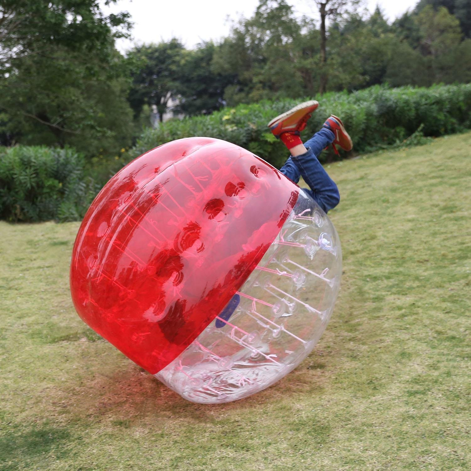 Mewalker Giant Inflatable Bumper Ball 0.8MM TPU Bubble Soccer Ball Zorb Ball Human Hamster Ball With 2 Handles 2 Adjustable Shoulder for Children Kids Adults Playground Outdoor (1.2M-1.5M,US STOCK) by Mewalker (Image #6)