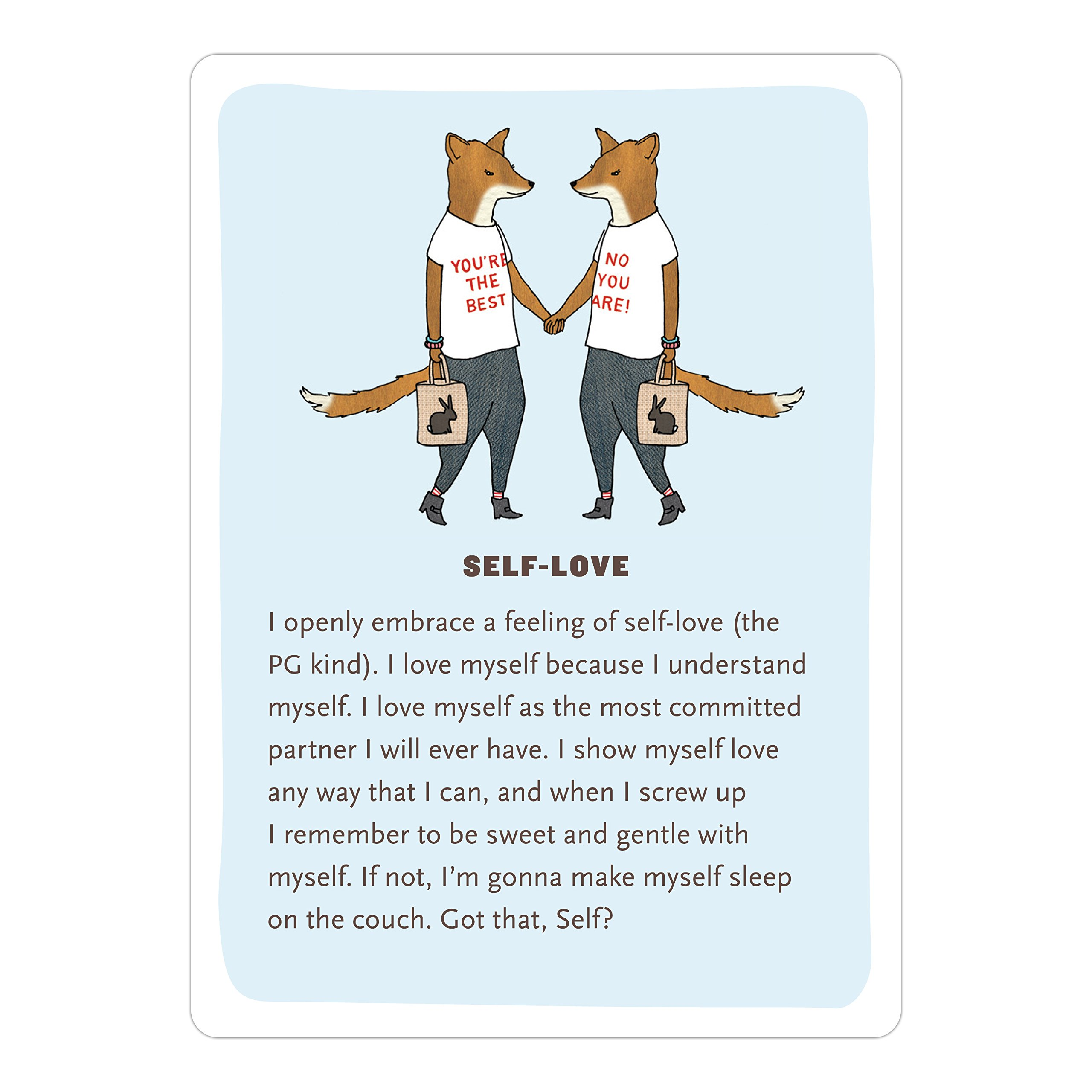 affirmators 50 affirmation cards to help you help yourselfwithout the selfhelpyness