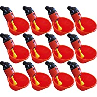 M-Aimee 12 Pack Chicken Water Drinking Cup Immediately Bowl Self-Waterer for Poultry Chicken Hens Birds Hencoop