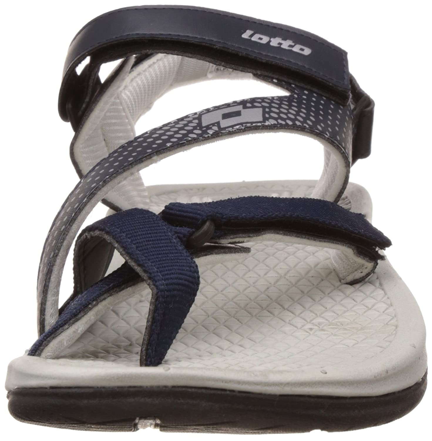 aa512e5fb3b57b Lotto Men s Roma III Navy Blue and Silver Sandals and Floaters - 9 UK India  (43 EU)  Buy Online at Low Prices in India - Amazon.in