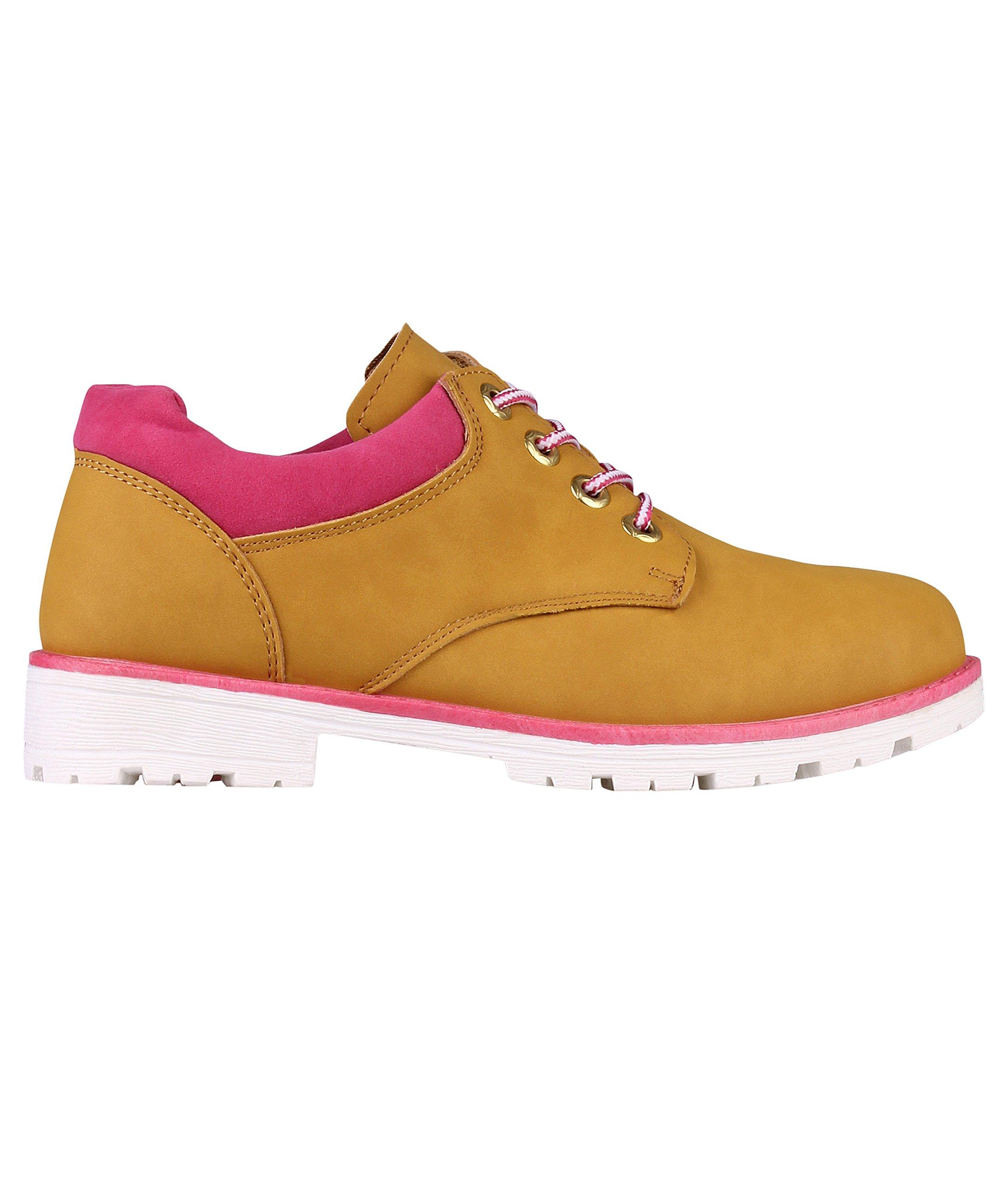 KRISP Low Top Worker Shoes (Camel, US 7),[5597-CAM-5]