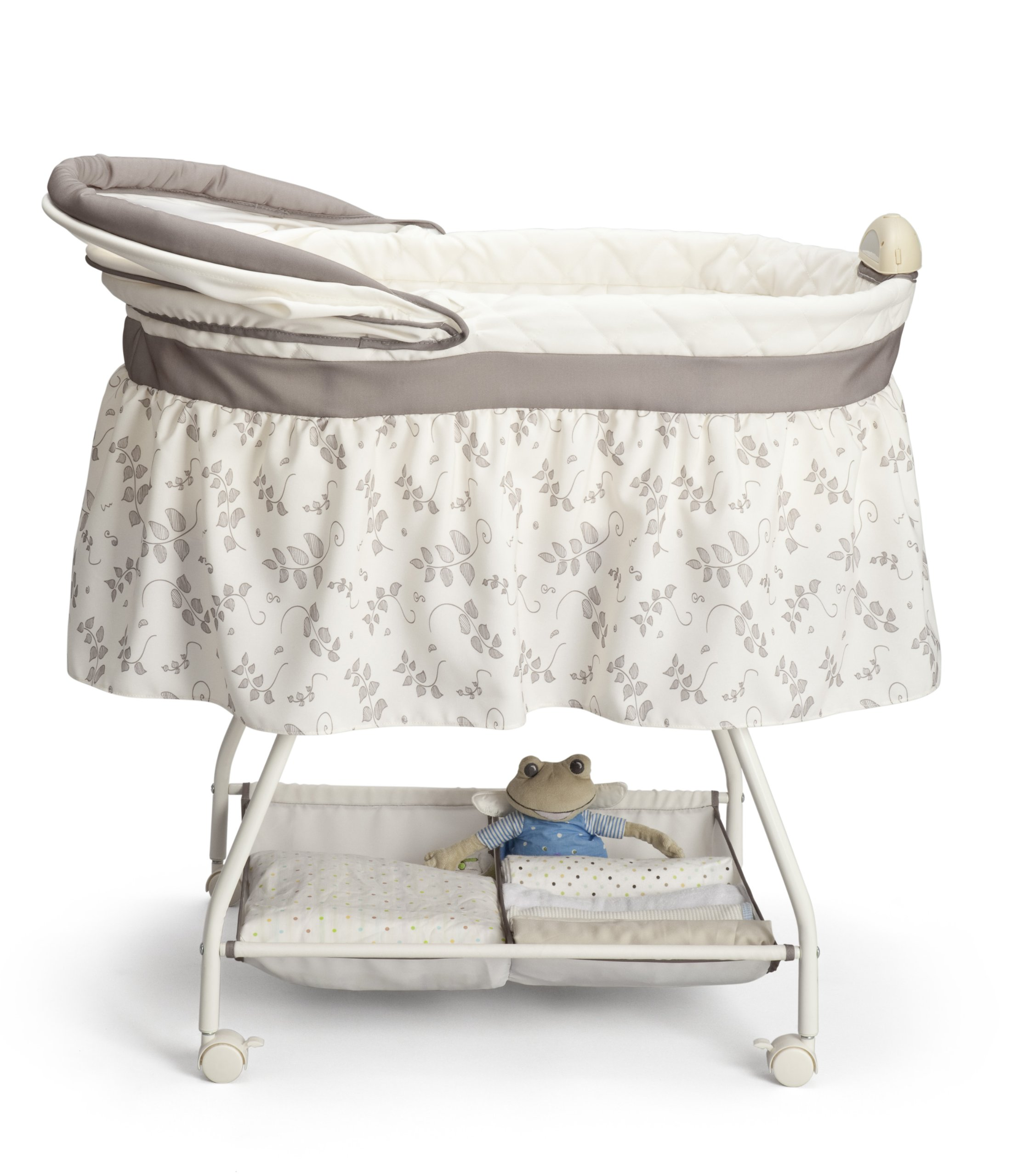 Delta Children Sweet Beginnings Bassinet Falling Leaves Ebay # Muebles Accesorios Jil
