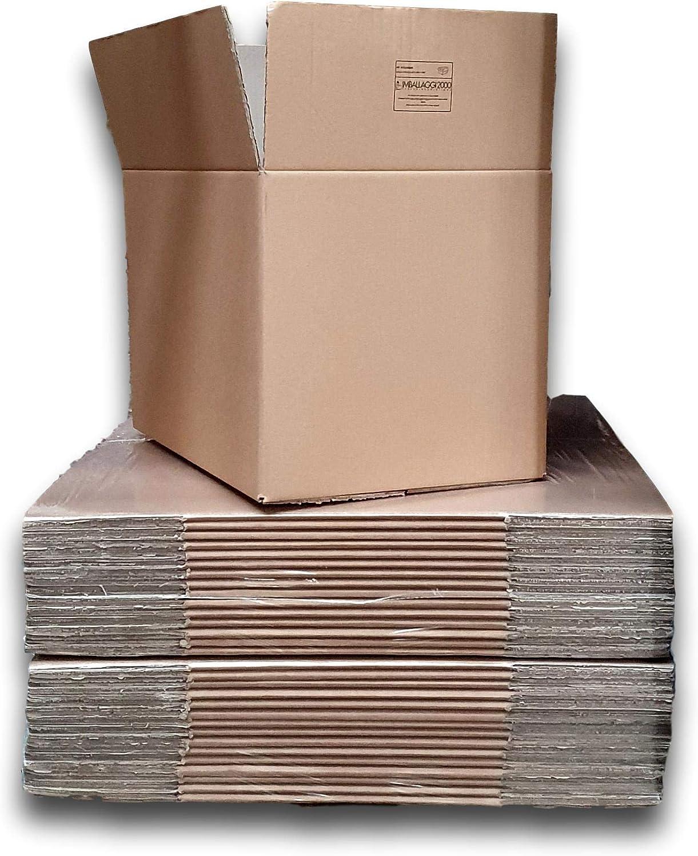 IMBALLAGGI 2000 5 Pezzi Scatoloni 25x20x15 cm Scatola di Cartone Doppia Onda Imballaggi per Spedizione e Trasloco