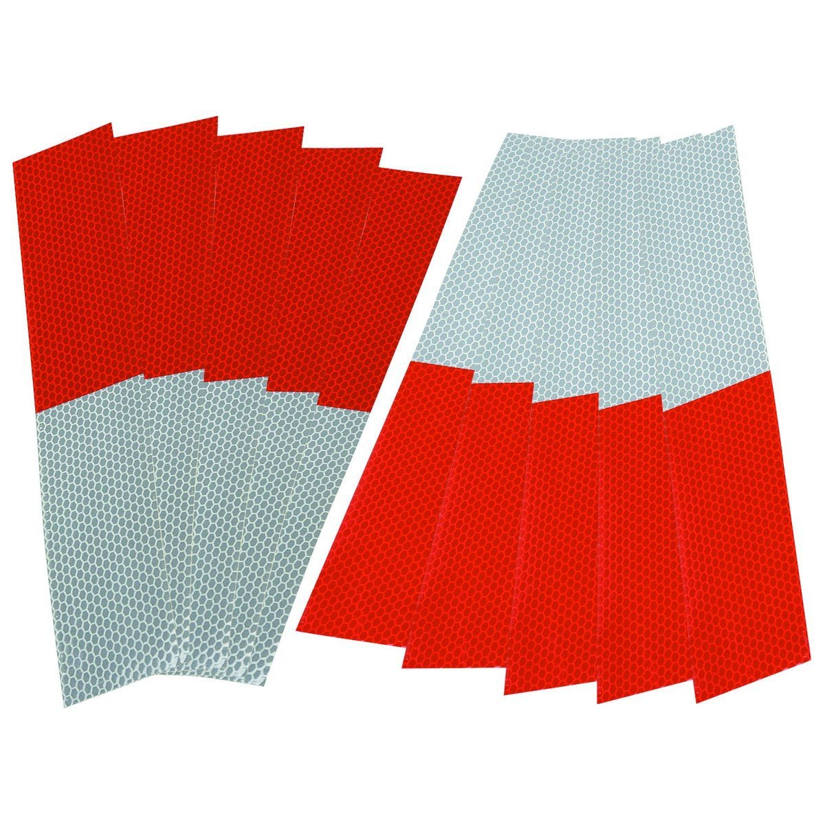 HFT 61392 Reflective Strips, Red/White, 10 Piece