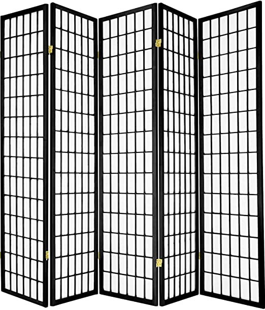 3 4 Panel Shoji Screen Room Divider In Black Cherry Espresso Natural White Screens Room Dividers Rateshop Home Garden