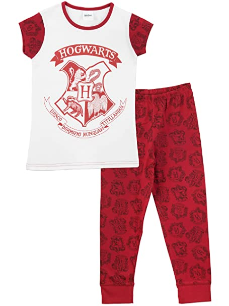 474c831a0 Harry Potter Girls Hogwarts Pyjamas Ages 4 to 13 Years  Amazon.co.uk ...