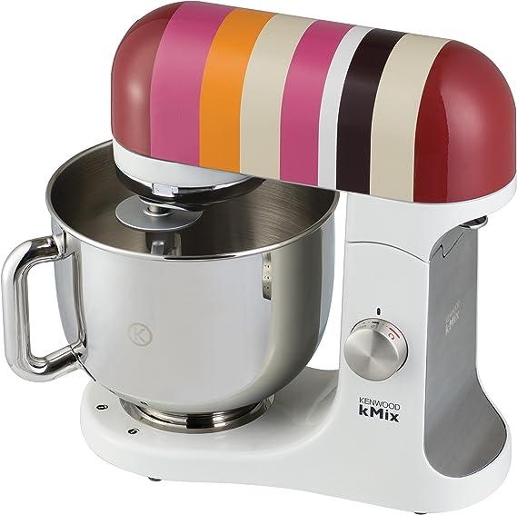 Kenwood kMix KMX85 - Robot de cocina, 500 W, capacidad de 5 l, 6 velocidades, 3 herramientas, color plateado con rayas multicolores: Amazon.es: Hogar