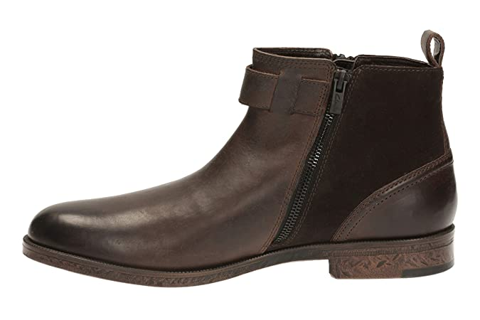 Clarks Men's Chelsea Ankle Boots Brocton Mid Brown Warm Lined Leather:  Amazon.co.uk: Shoes & Bags