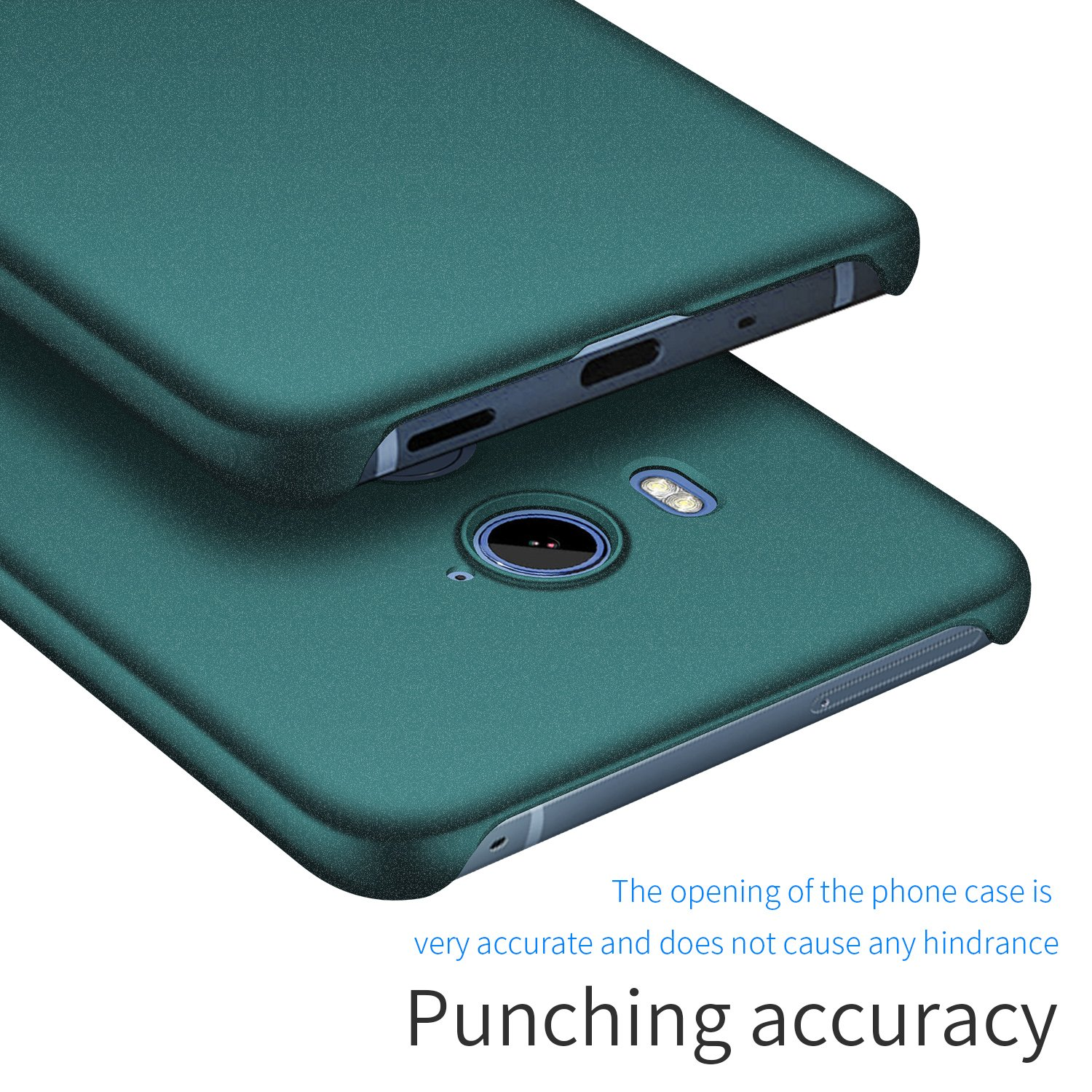 Avalri Thin Fit HTC U11 Eyes Case with Silky Surface and Minimalist for HTC U11 Eyes Matte Green