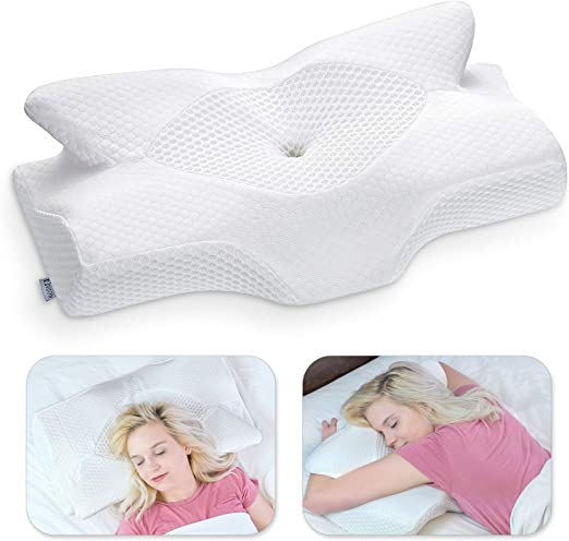 Amazon.com: Elviros Cervical Memory Foam Pillow, Contour Pillows