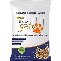 Granulado Higiênico de Madeira Bem Gato, Like Pet, Marrom, 4kg