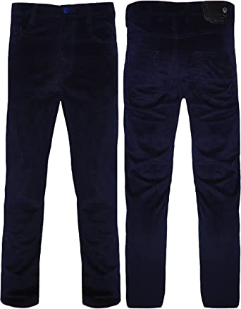 Peviani - Pantalones de pana para hombre, de algodón 30-44, ajuste ...