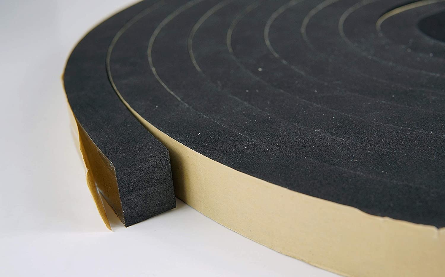Neoprene Foam Weather Seal High Density Stripping with Adhesive Backing 1/2 Inch Wide 1/4 Inch Thick 50 Feet Long (1 inch x 3/4 inch x 25 feet)