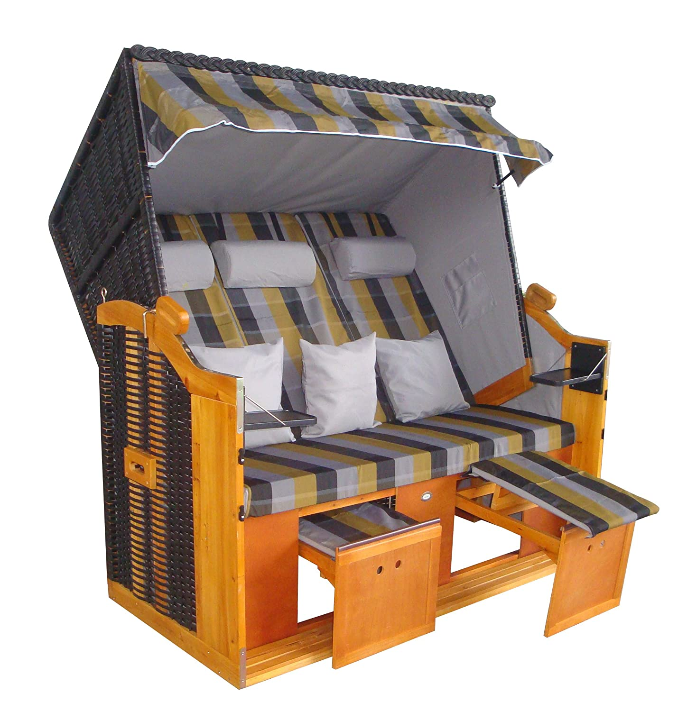 wohnwerk strandkorb r gen ii gr n kariert xxl 4 kissen g nstig kaufen. Black Bedroom Furniture Sets. Home Design Ideas