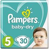 Pampers Baby-Dry Windeln, Größe 5 (11-16 kg), 1er Pack (1 x 30 Stück)