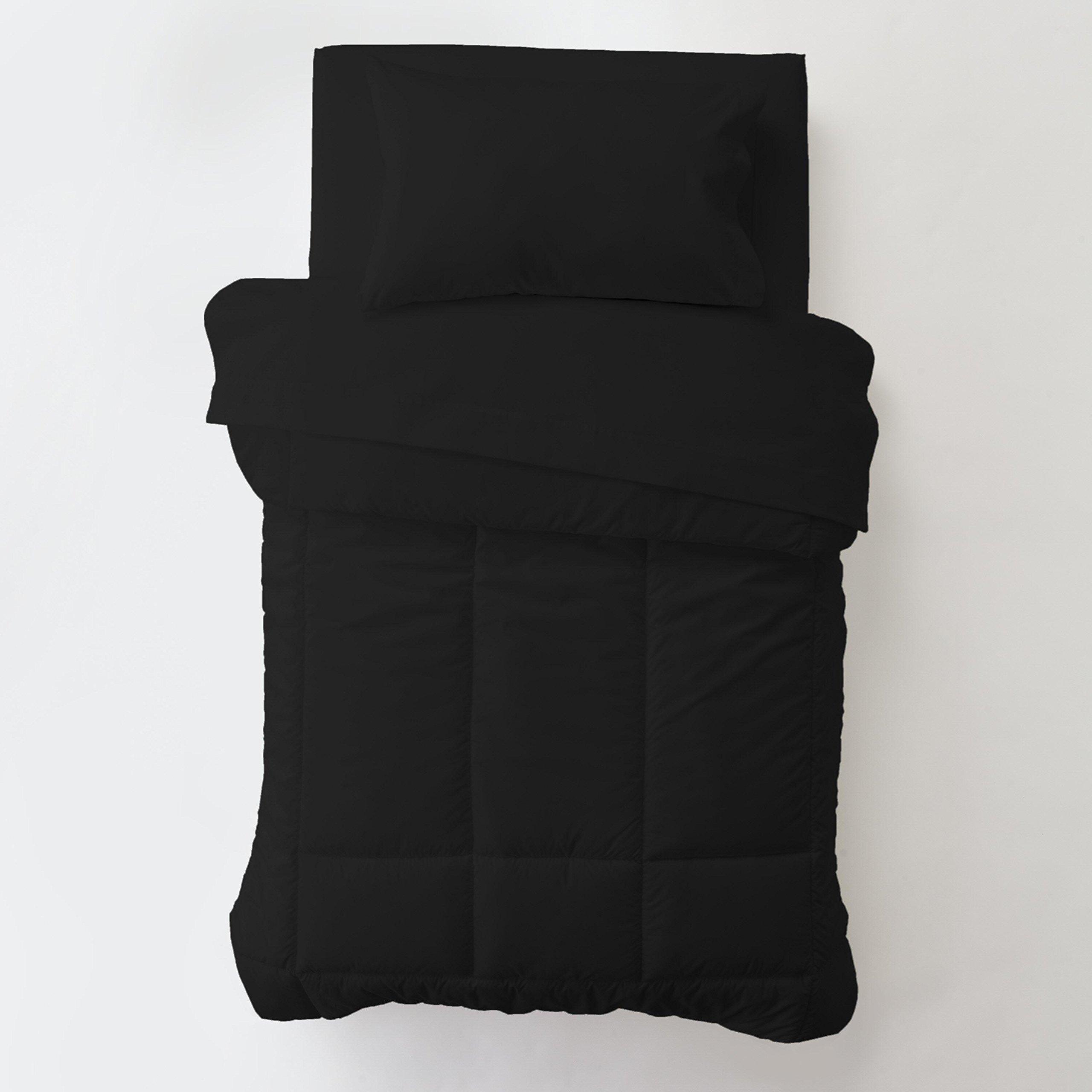 Carousel Designs Solid Black Toddler Bed Comforter