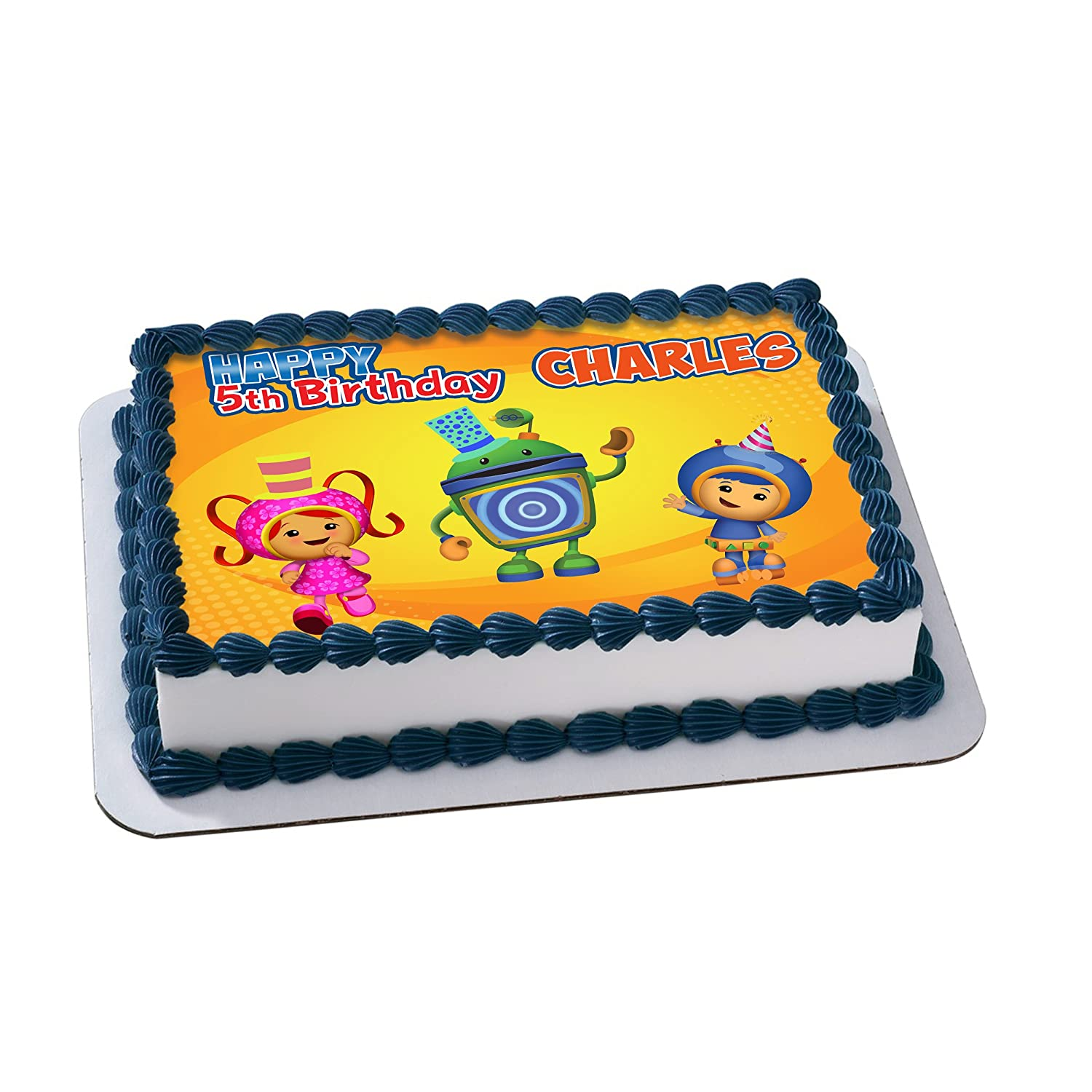 Team Umizoomi Edible Image Cake Topper Personalized Icing Sugar Paper A4 Sheet Frosting Photo Amazon Grocery Gourmet Food