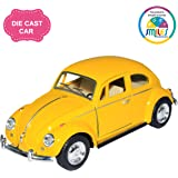Smiles Creation Kinsmart 1:32 Scale 1967 Volkswagen Classical Beetle Car Toy, Yellow (5-inch)