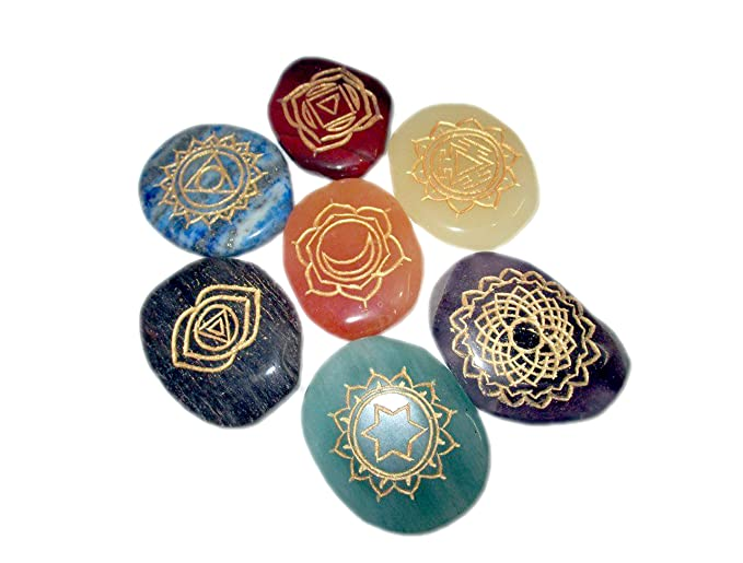 New Chakra Thymus Gemstone Chakra 7 Stones Sets Crystal Chakra Flat Tumbled Latest Proved Results Balancing Reiki Healing Energy Aura Pouch Spiritual Metaphysical Divine Psychic Peace Progress Crystal Therapy Energy Stress Relief Issues Problems Angel Help