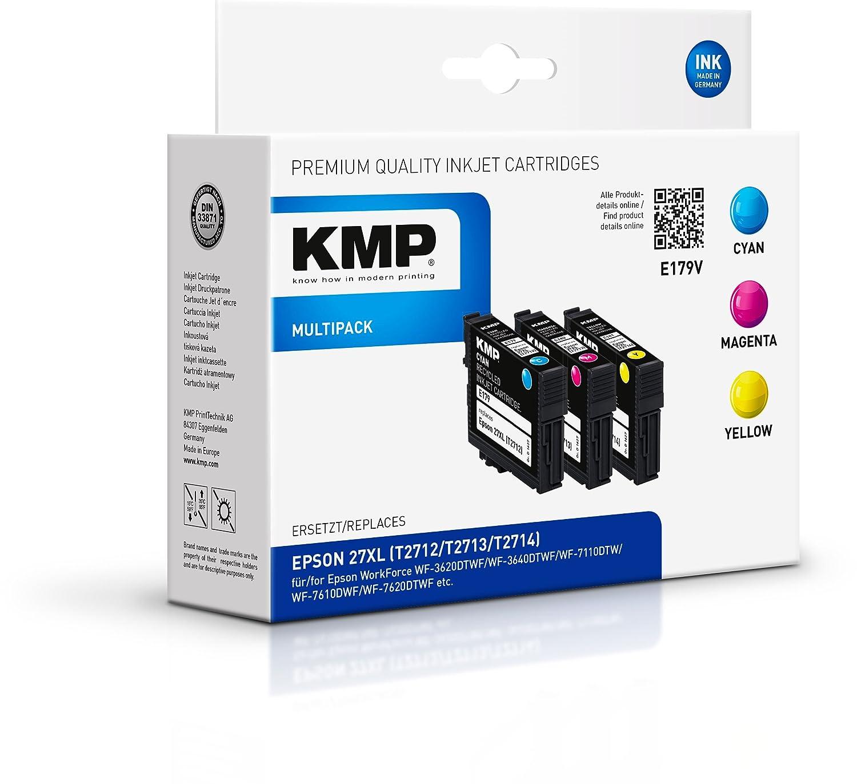 KMP E179V - Cartucho de tinta para impresoras (Cian, Magenta ...