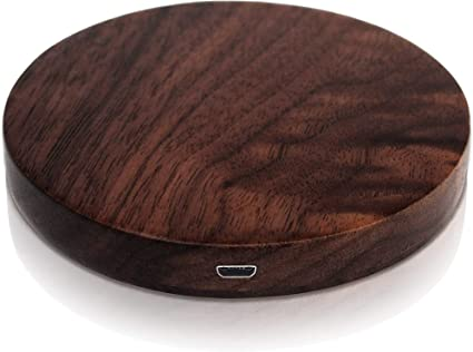 Wood Charger Wood Charging Pad Bamboo Wood Design Compatible w//iPhone Xs Max//XR//XS//X//8//8Plus Fast Charging Galaxy S10//S10 Plus//S10E//S9 TECHDIRECT Wood Wireless Charger with Extra Long Micro-USB