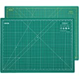 """ZERRO Professional Self-Healing Cutting Mat Double Sided Thick 5-Ply with Imperial/Metric 18"""" x 24"""" (A2)"""
