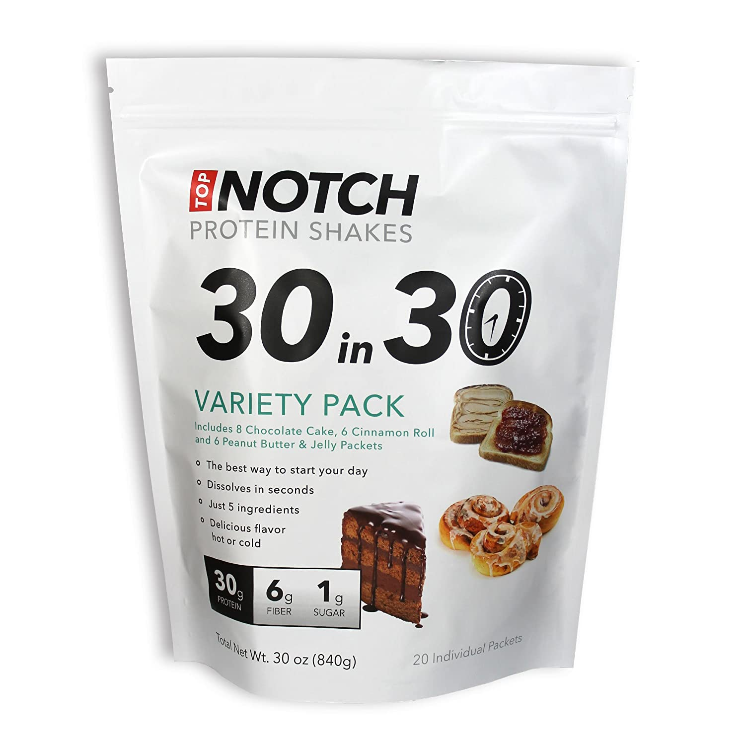 Amazoncom Top Notch Goods 30 in 30 Protein Shakes Chocolate Cake
