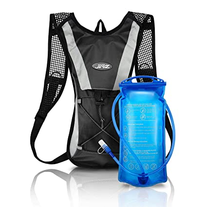 2L Hydration Bladder Bag Hiking Camping Backpack Water Drinking Pouch Sports UK