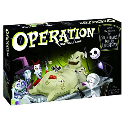 Operation Disney The Nightmare Before Christmas Board Game | Collectible Operation Game | Featuring Oogie Boogie & Nightmare Before Christmas Artwork: Toys & Games