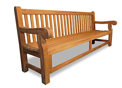 Enjoyable Amazon Com Teak Hyde Park Bench 8 Ft Garden Outdoor Andrewgaddart Wooden Chair Designs For Living Room Andrewgaddartcom