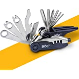 Bike MultiTOOL 18 Function Compact folding Tool Set ~ Great Gift for Bicycle Riders