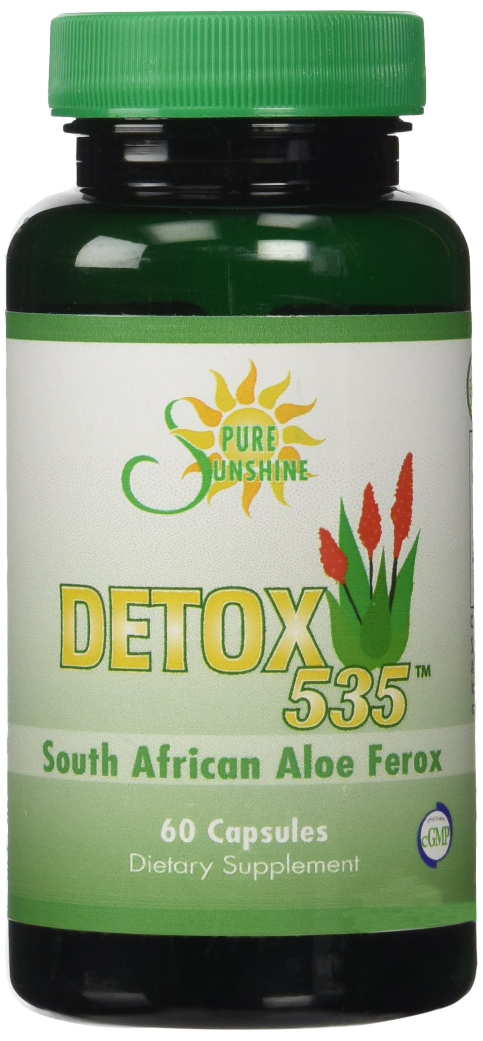 DETOX 535 South African Cape Aloe Ferox Pills- Natural Laxative by  Pure Sunshine Supplements
