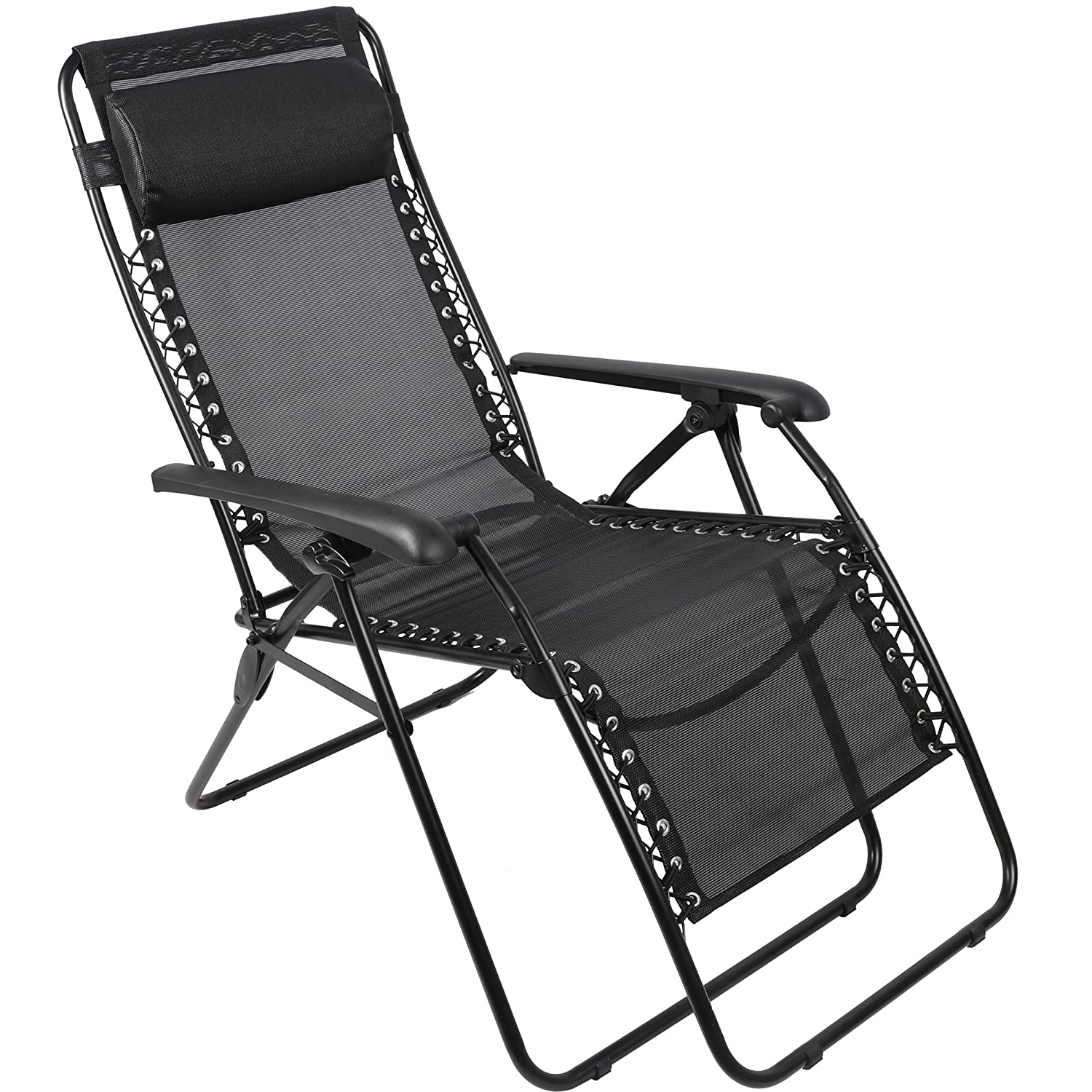Merveilleux Amazon.com: PORTAL Zero Gravity Chair Patio Lawn Reclining Lounge Chair,  Black: Sports U0026 Outdoors