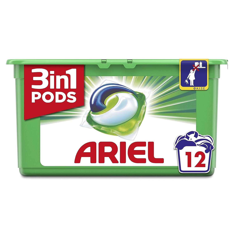 Detergente ariel líquido 3 en 1 caps 12 un promo